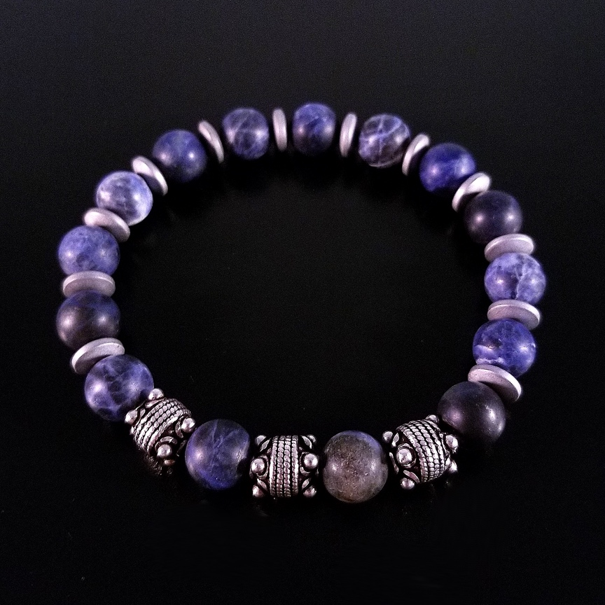 Mens-10mm-Matte-Sodalite-and-Silver-with-Hematite-Discs-2.jpg